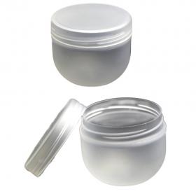 25 Tiegel milchglas-optik (durchsichtig)