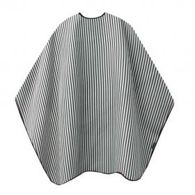 T.D. Barber Cape schwarz/weiß gestreift  Schneide- und Rasierumhang