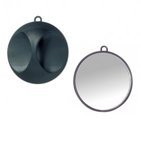 Kabinett-Handspiegel Elegant schwarz-matt